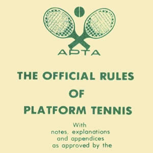 rules of platform tennis