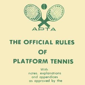 rules of platform tennis